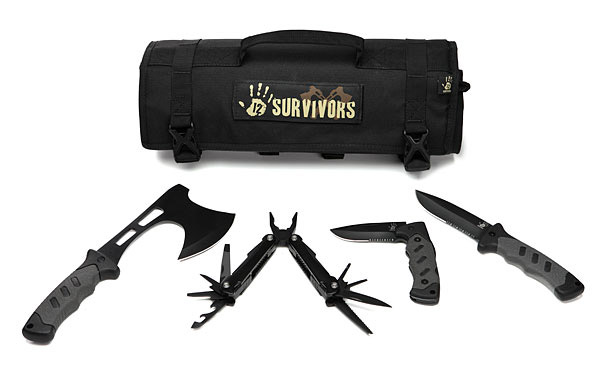 12 Survivors Roll Up Survival Kits - The Green Head