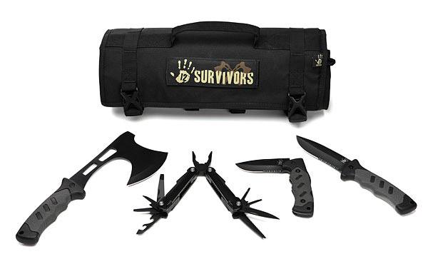 12 Survivors Roll Up Survival Kits - The Green Head