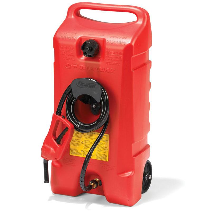 Portable Gas Containeres : Flo n go duramax portable gallon gas can with fuel