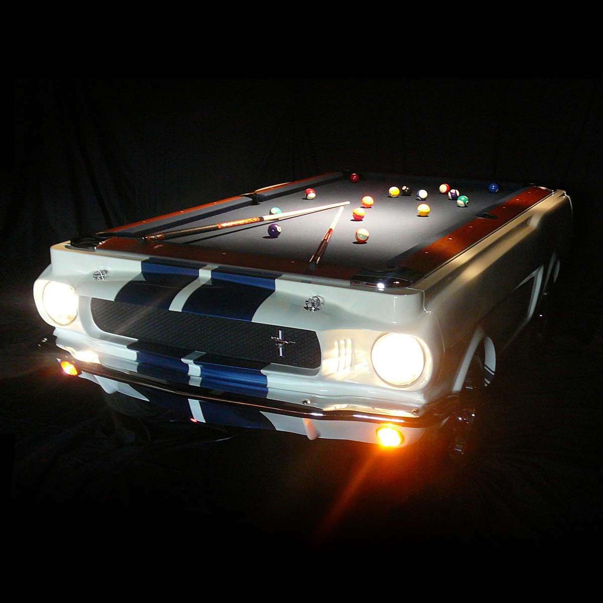 1965 shelby gt 350 pool table the green head for Design accessoires