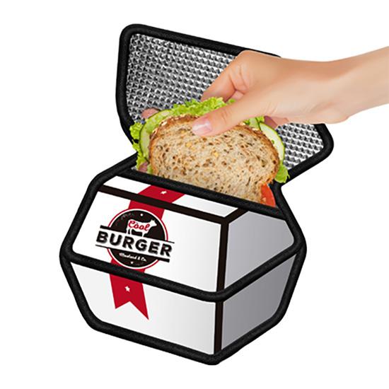 2d Cartoon Burger Box Insulated Sandwich Bag