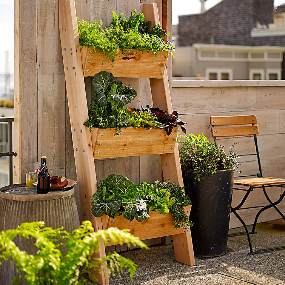 Vertical Herb Garden Ideas: 3-Tier Vertical Wall Garden