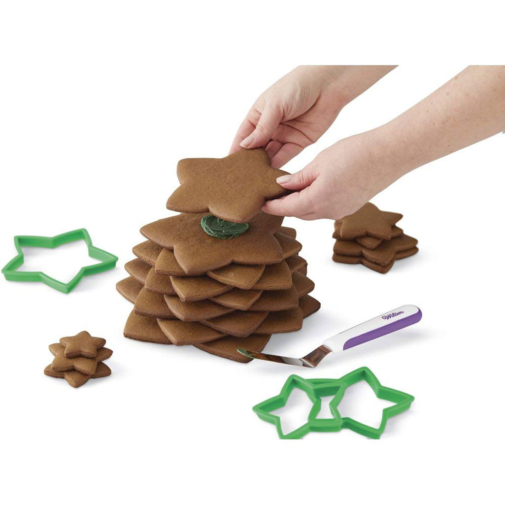 3D Christmas Tree Cookie Cutter Kit