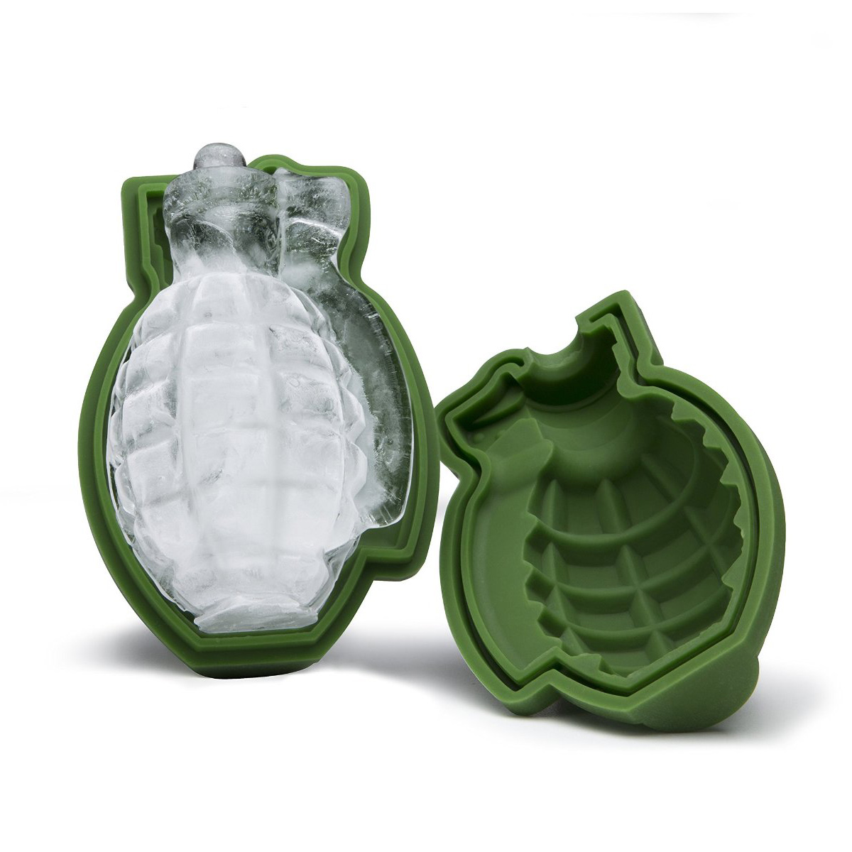 3d grenade ice cube mold the green head. Black Bedroom Furniture Sets. Home Design Ideas