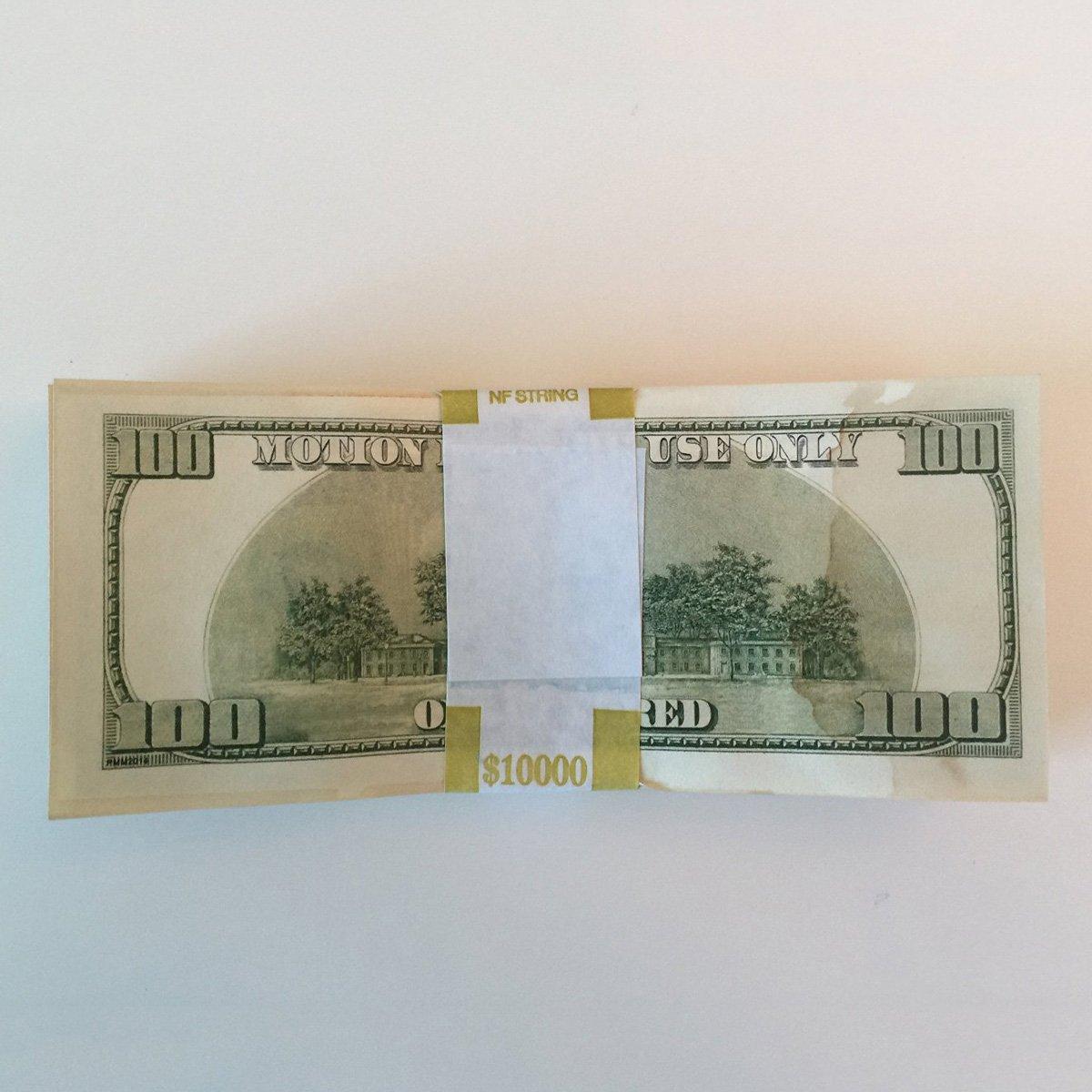 $500,000 Prop Movie Money Bundles in a Duffel Bag