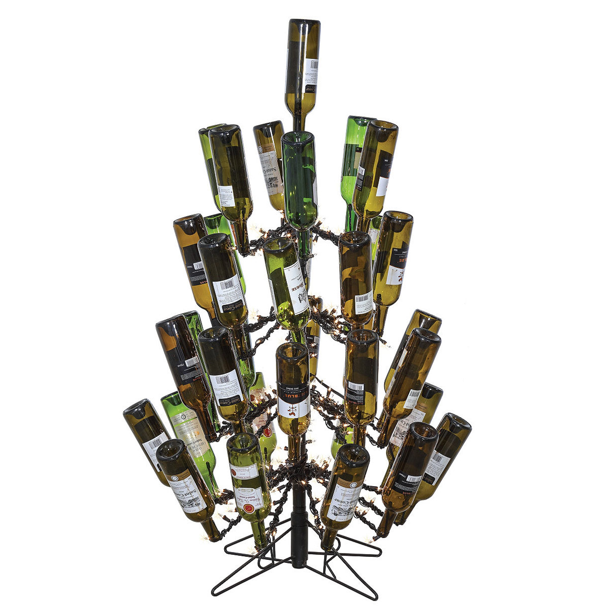 7 Foot Tall Wine Bottle Christmas Tree - Holds 83 Empty ...