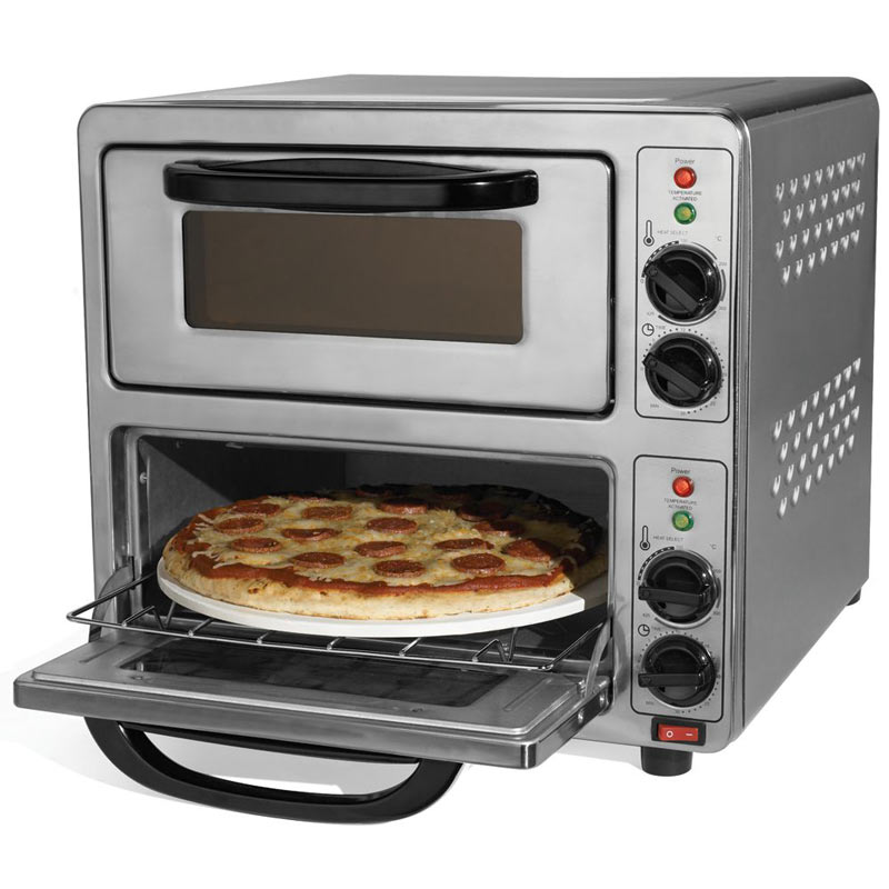 90 second dual pizza oven the green head. Black Bedroom Furniture Sets. Home Design Ideas