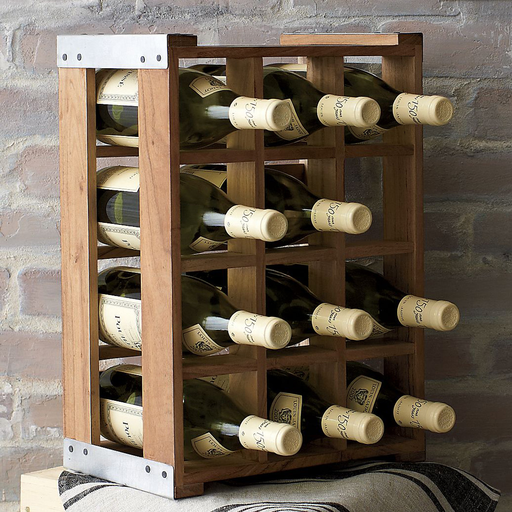 Rustic Acacia Wood Crate Wine Racks The Green Head