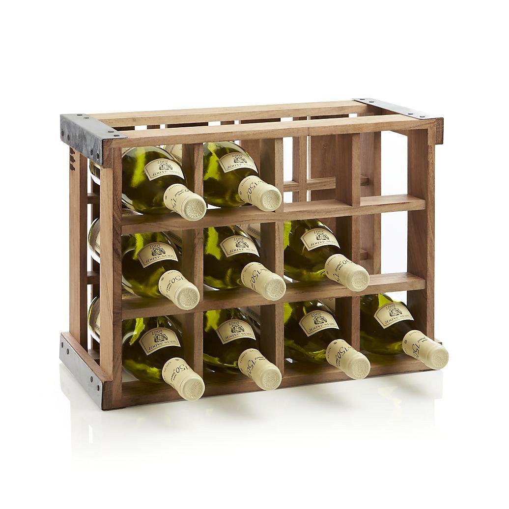 Wood Wine Racks ~ Rustic acacia wood crate wine racks the green head