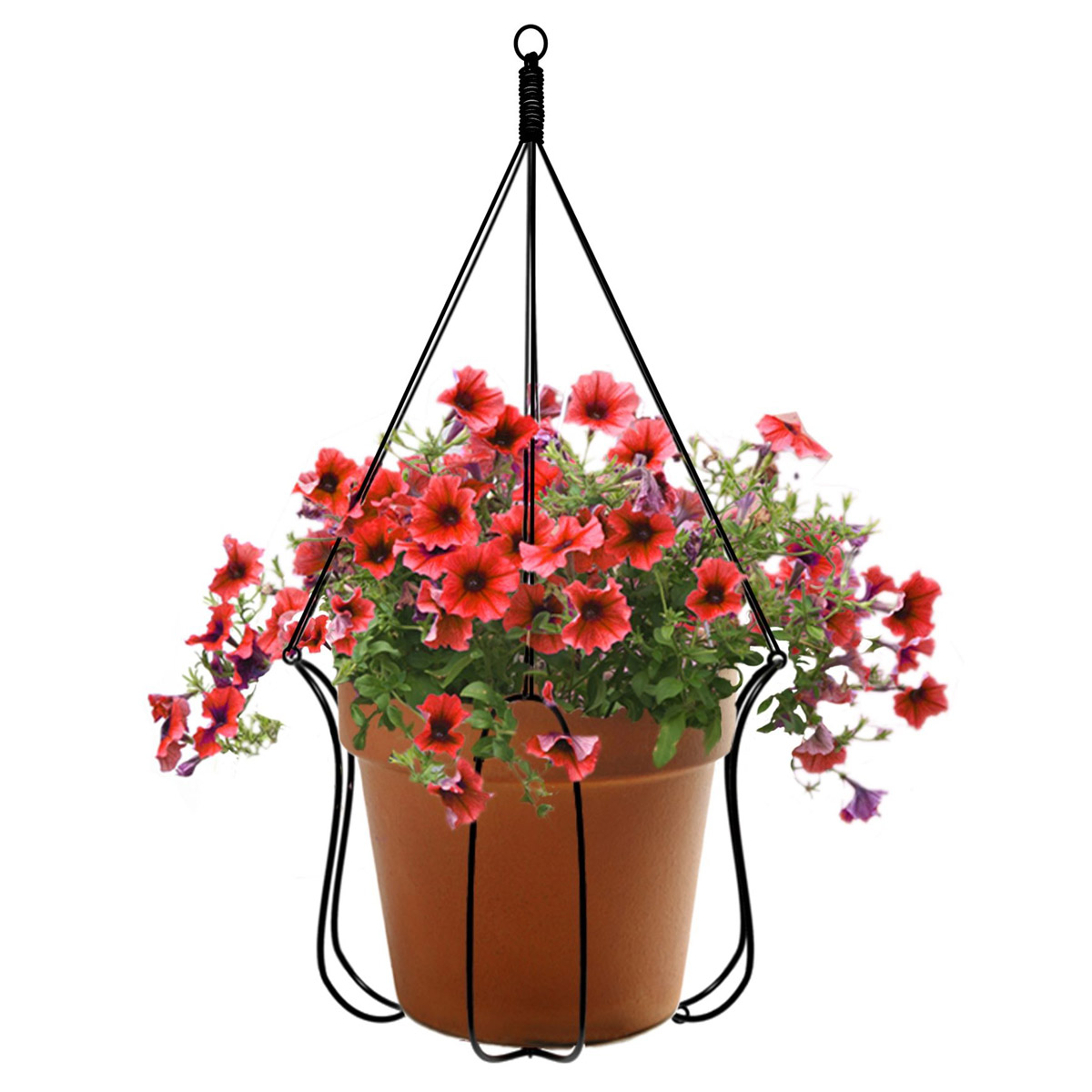 adjustable plant hanger turns almost any pot into a. Black Bedroom Furniture Sets. Home Design Ideas