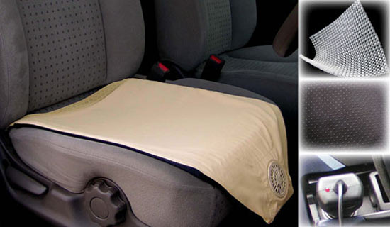 air conditioned seat cushion the green head. Black Bedroom Furniture Sets. Home Design Ideas