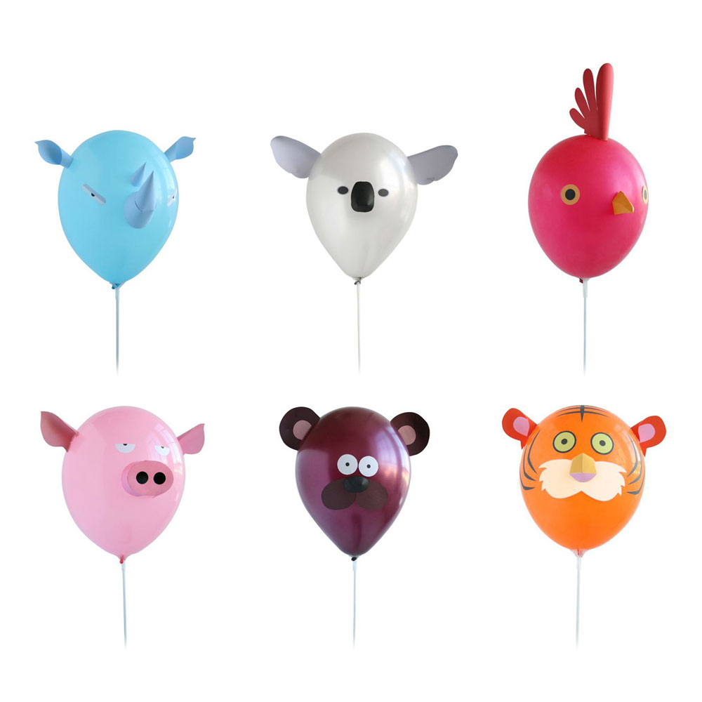 Funny balloon faces - Air Heads Animal Party Balloons