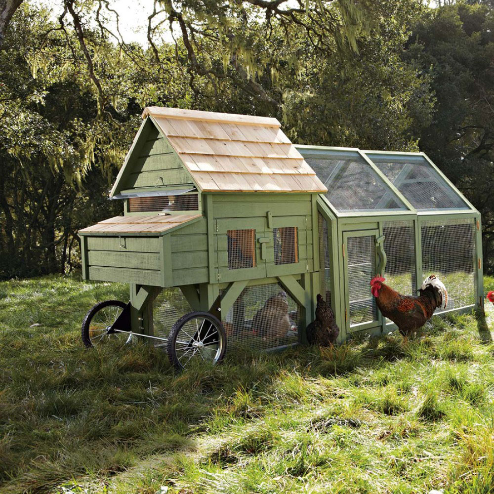 Alexandria chicken coop and run the green head for Mobile chicken coop plans