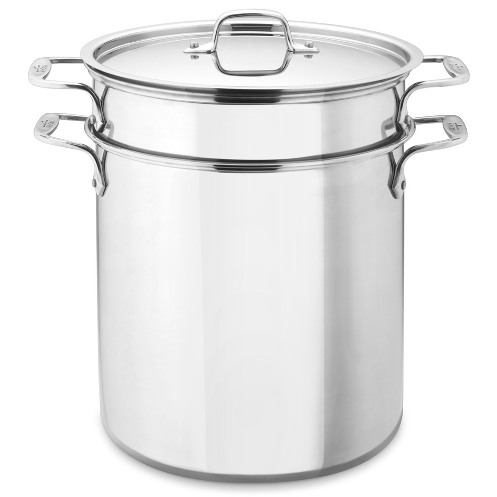 allclad stainless steel multi pot with mesh inserts