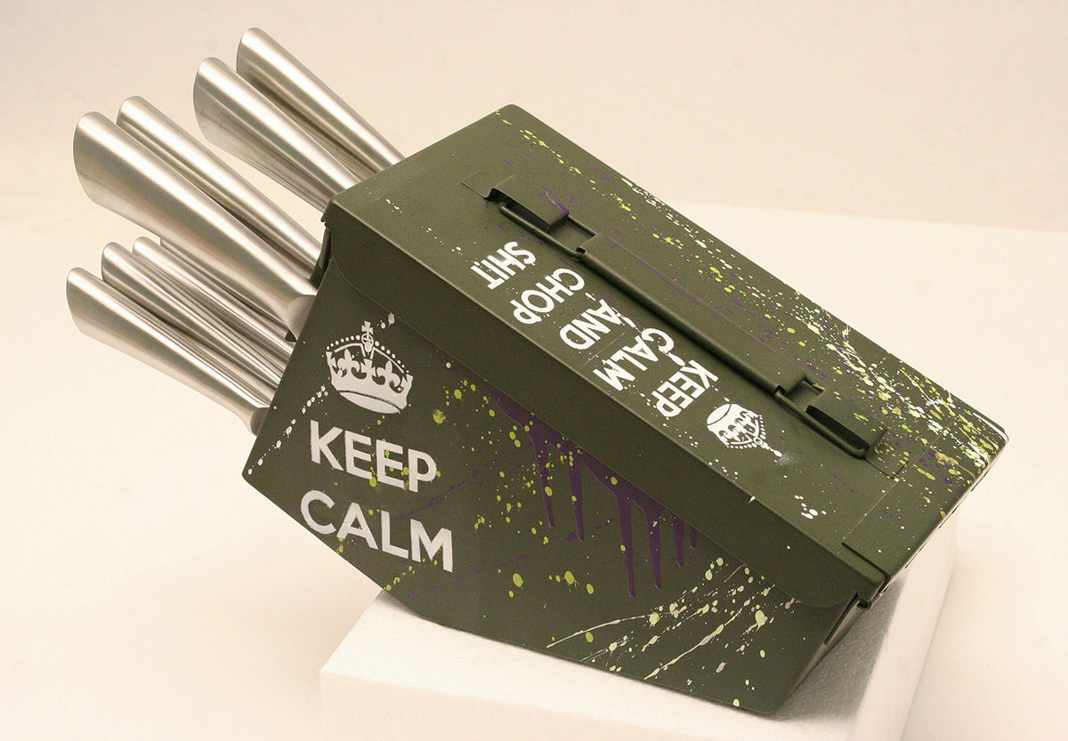 Ammo Box Knife Block The Green Head