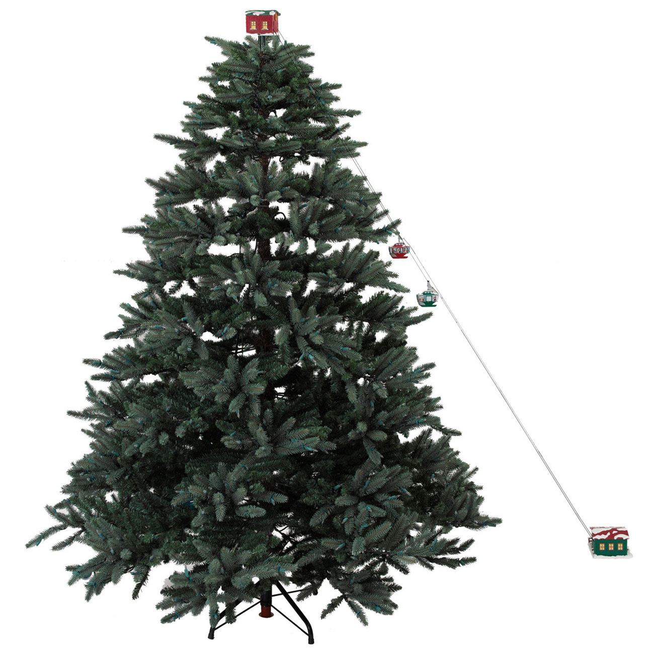 mr christmas animated christmas tree cable cars - Animated Christmas Tree