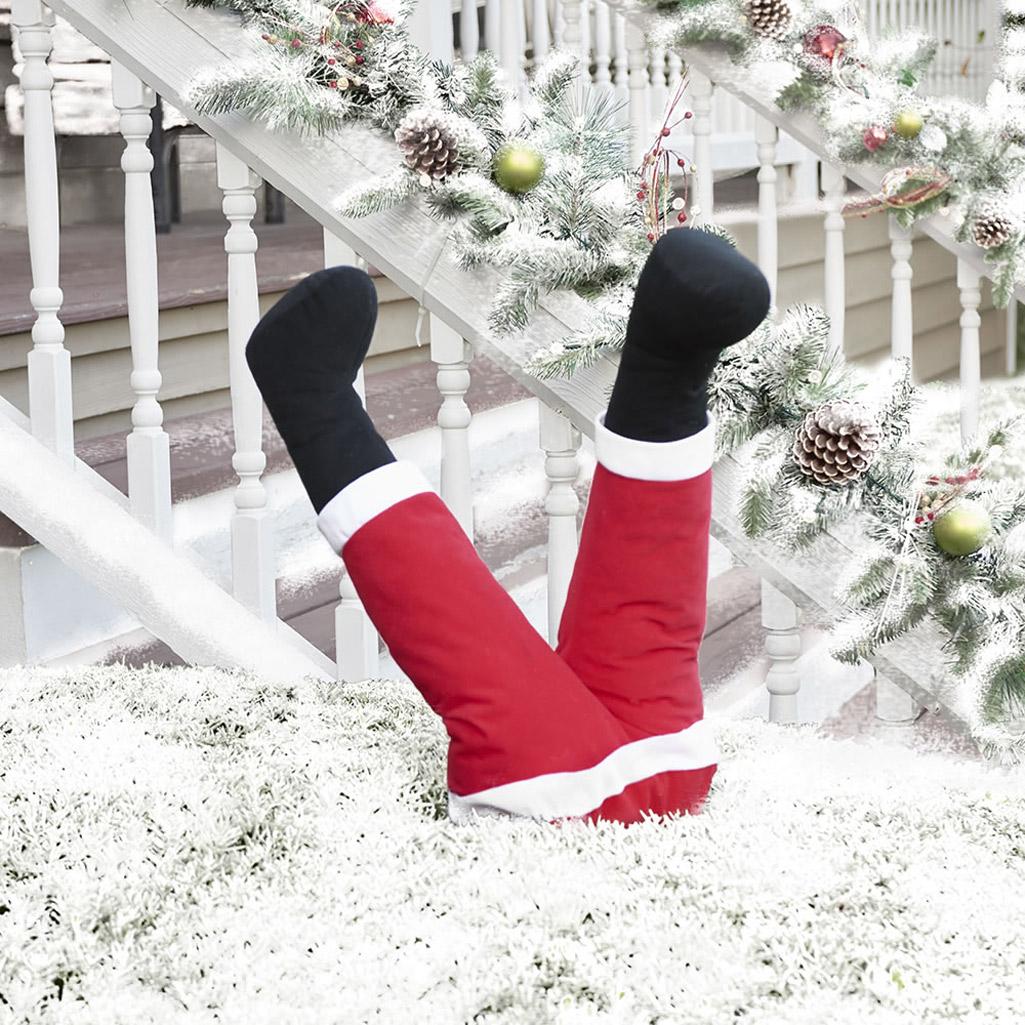 Animated Kicking Santa Legs
