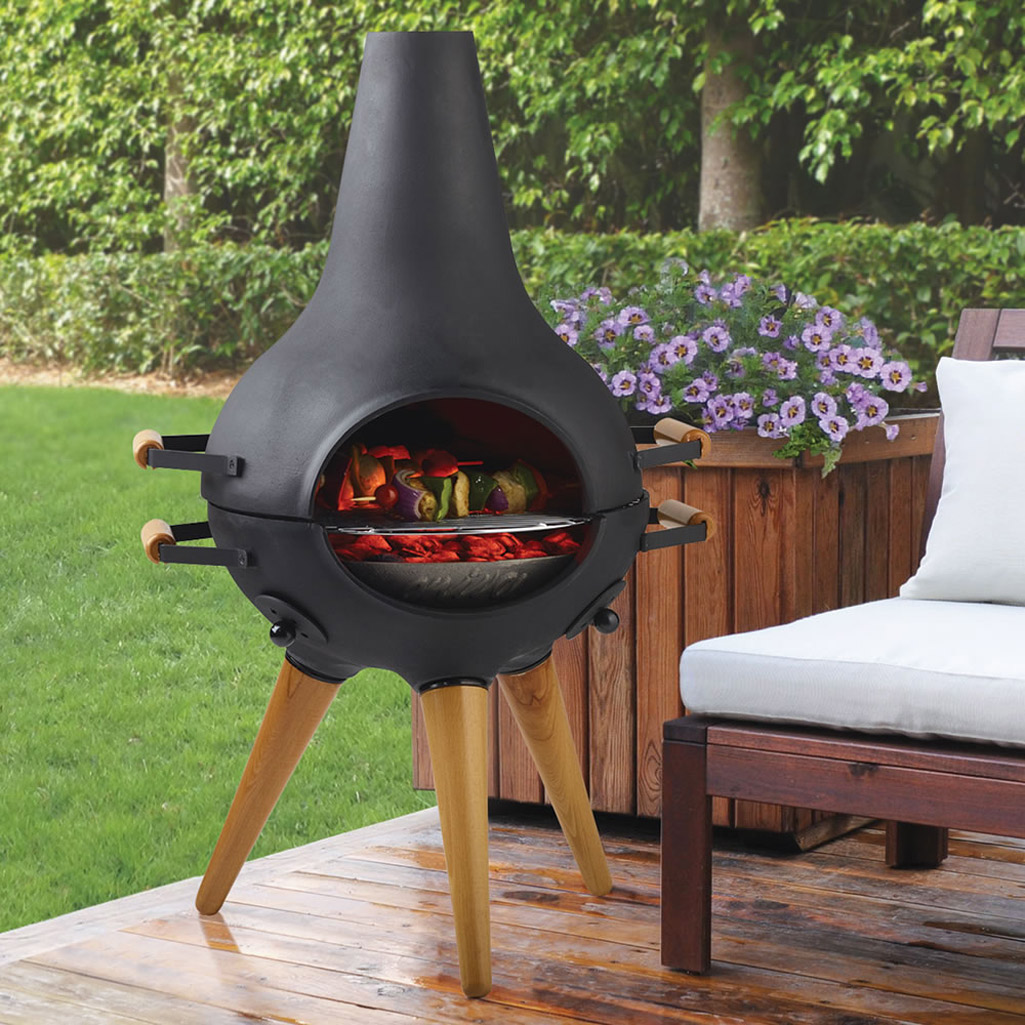 Good Aniva Cosa BBQ   Transforming Chiminea / Grill / Fire Pit