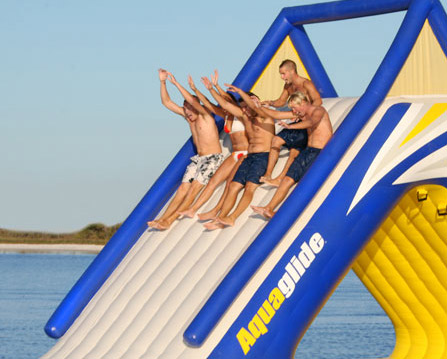AquaGlide Summit Express 16 Gigantic Inflatable Water Slide