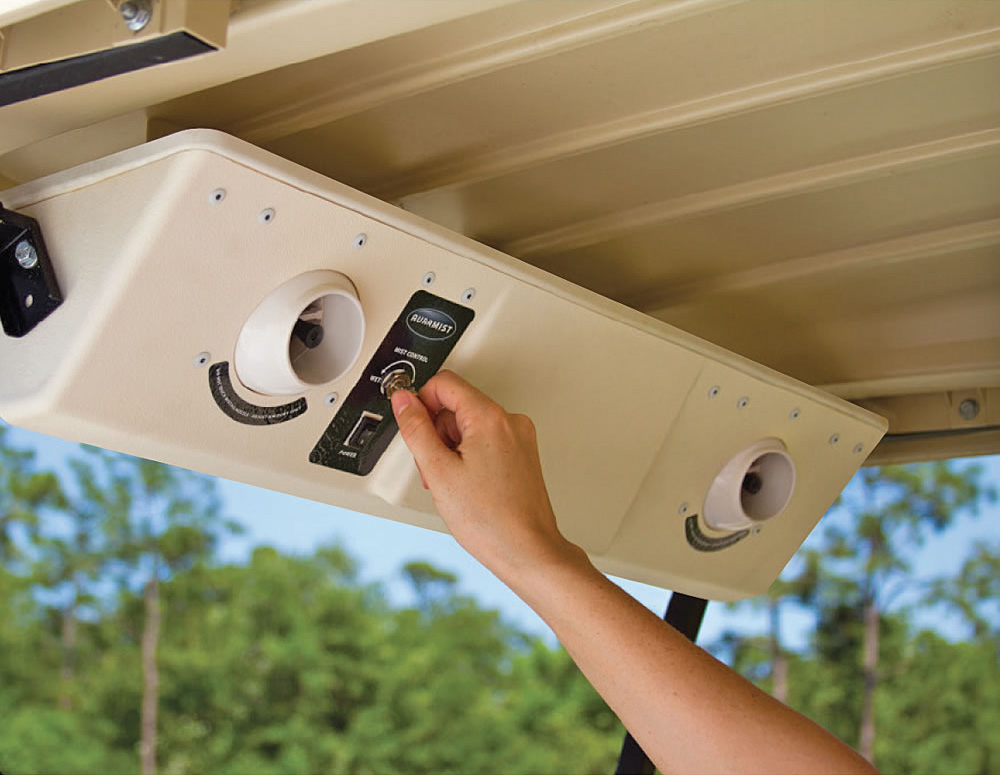Ac Misting System : Auramist bahia golf cart dry mist cooling system