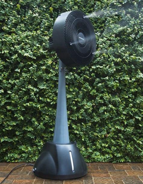 Outside Mister Fans : Auramist milo hoseless evaporative misting fan the