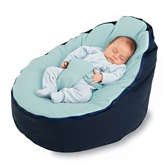 Baby bean bag chair the green head