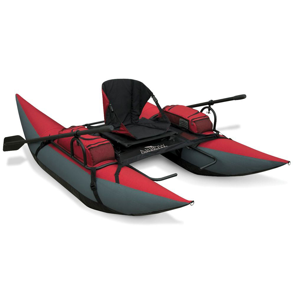 Inflatable backpack pontoon boat the green head for Inflatable pontoon boat fishing
