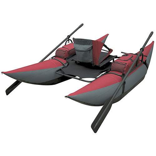 Inflatable backpack pontoon boat the green head for Inflatable fishing pontoon