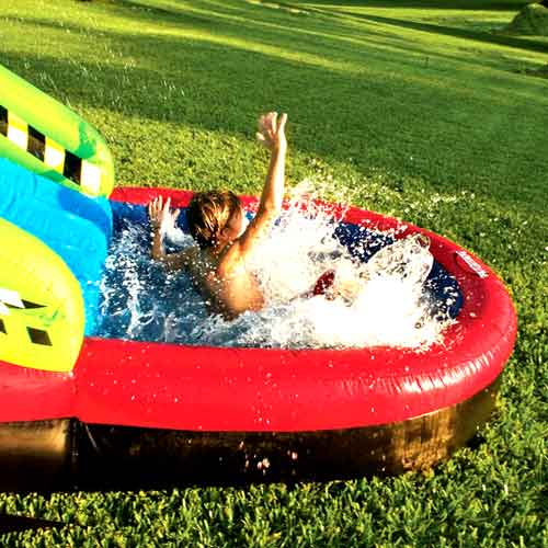 Ultimate Inflatable Backyard Water Park! - The Green Head