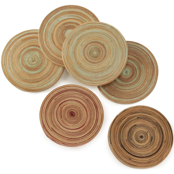 Bamboo Drink Coasters The Green Head