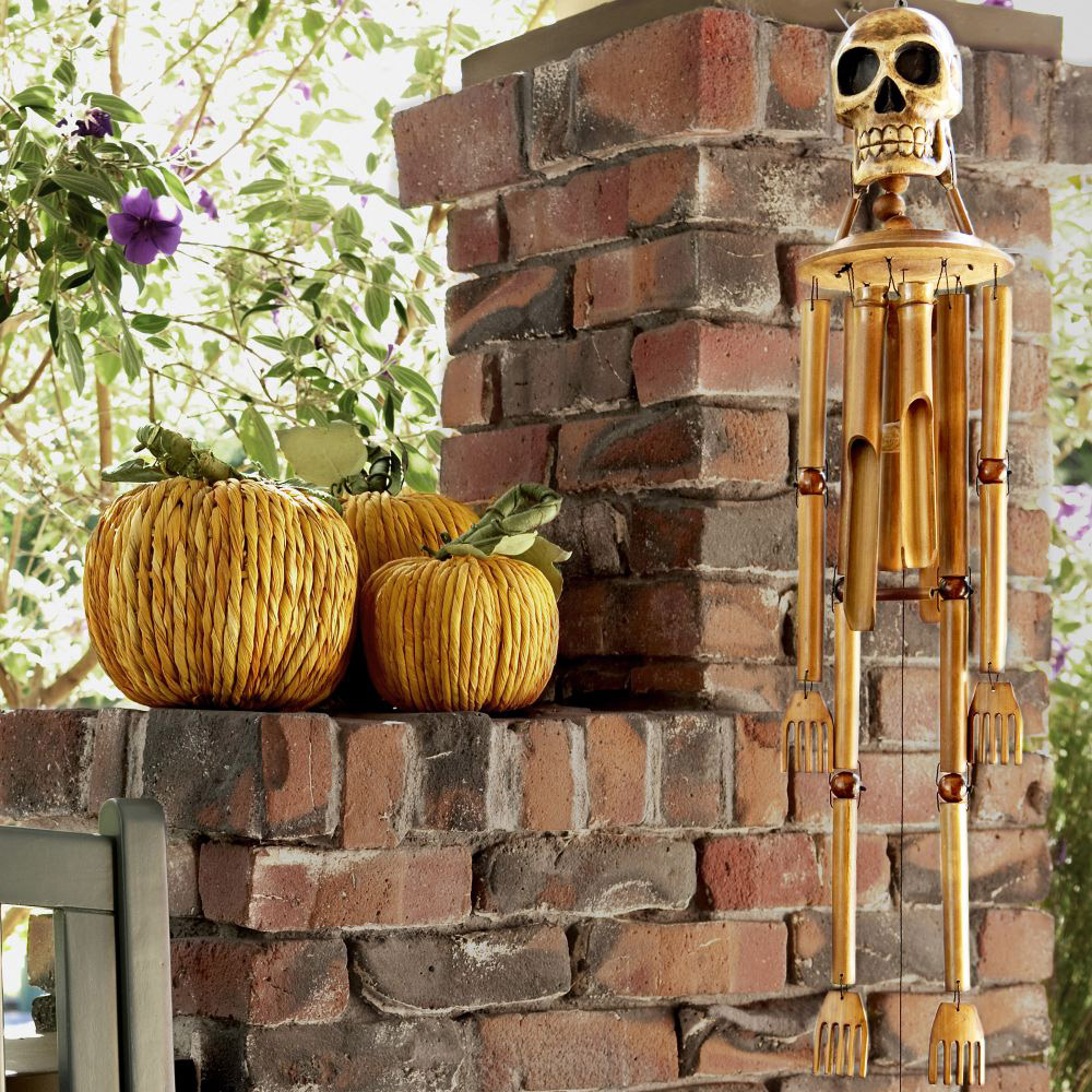 bamboo skeleton wind chimes the green head
