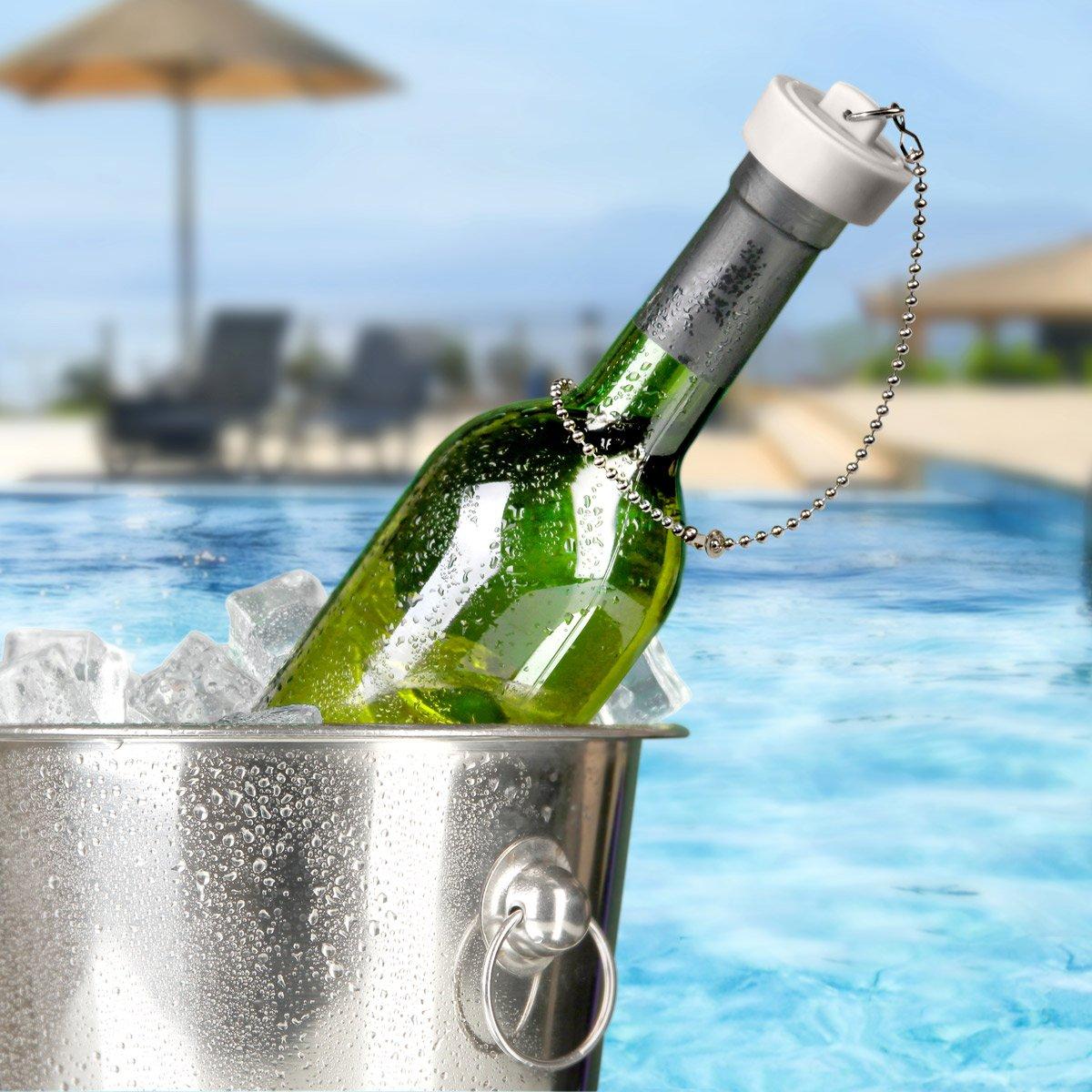 Bathtub Drain Plug Wine Bottle Stopper - The Green Head