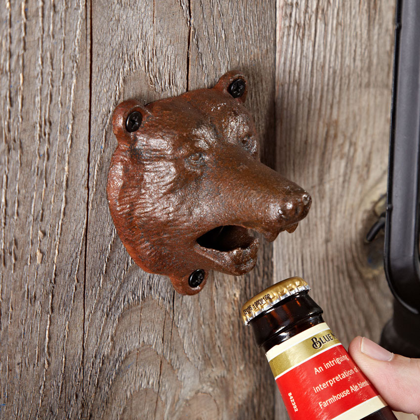 bear bite wall mounted bottle opener the green head. Black Bedroom Furniture Sets. Home Design Ideas