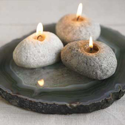 Beeswax Rock Candles The Green Head