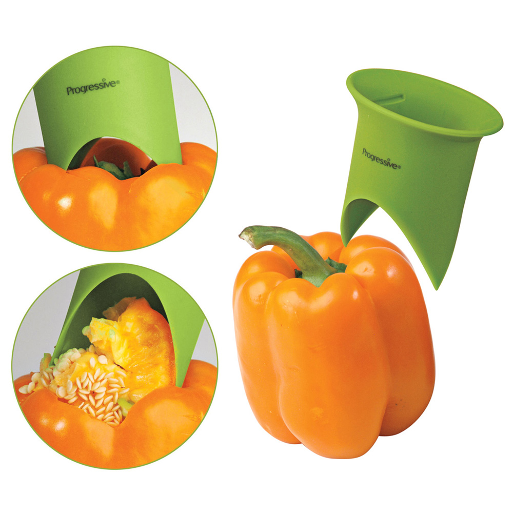 Bell pepper corer the green head Awesome kitchen gadgets