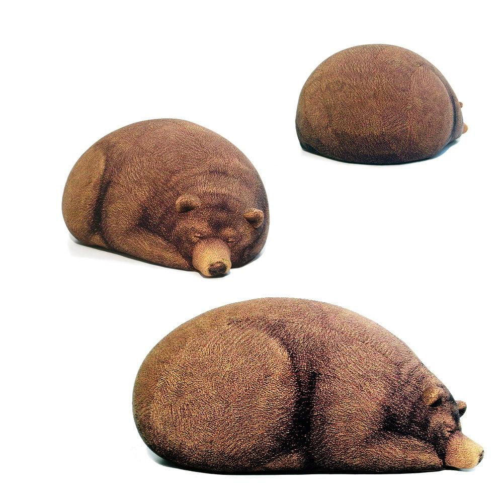 Big Sleeping Grizzly Bear Bean Bag - The Green Head