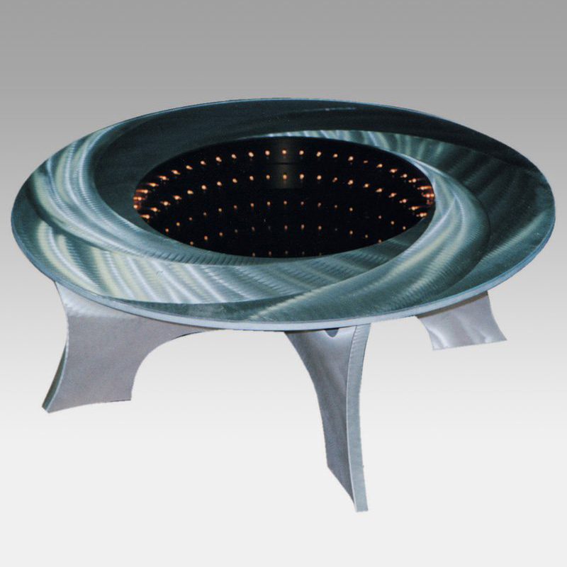 Black hole illuminated coffee table the green head Led coffee table