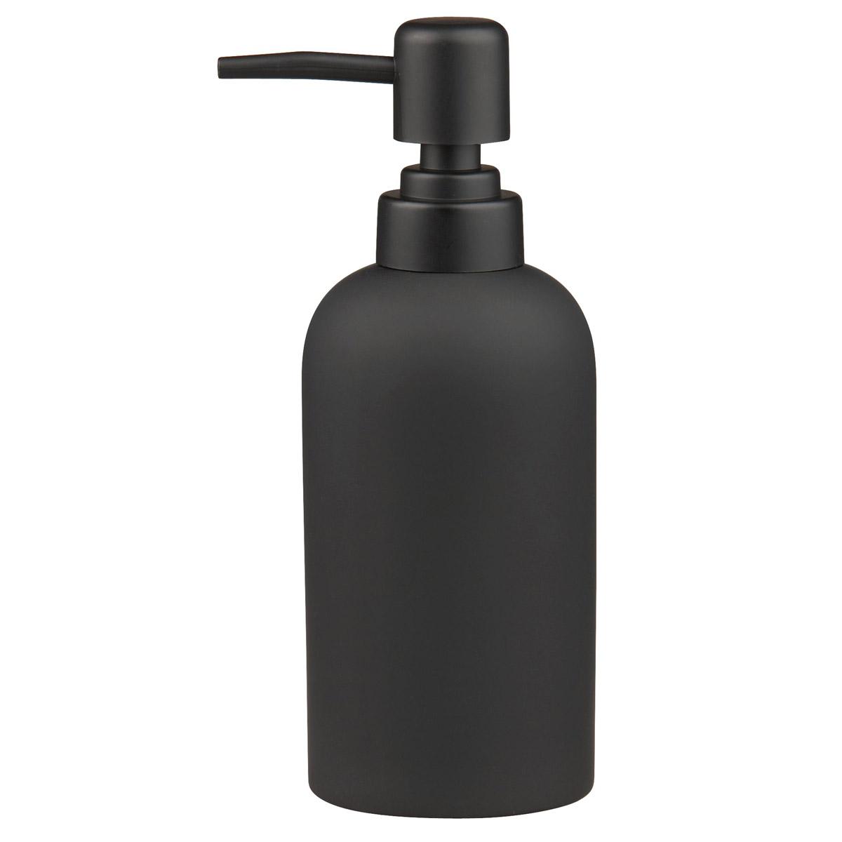 Black Rubber Coated Soap Dispenser