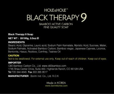 Black Therapy 9 Bamboo Charcoal Soap The Green Head