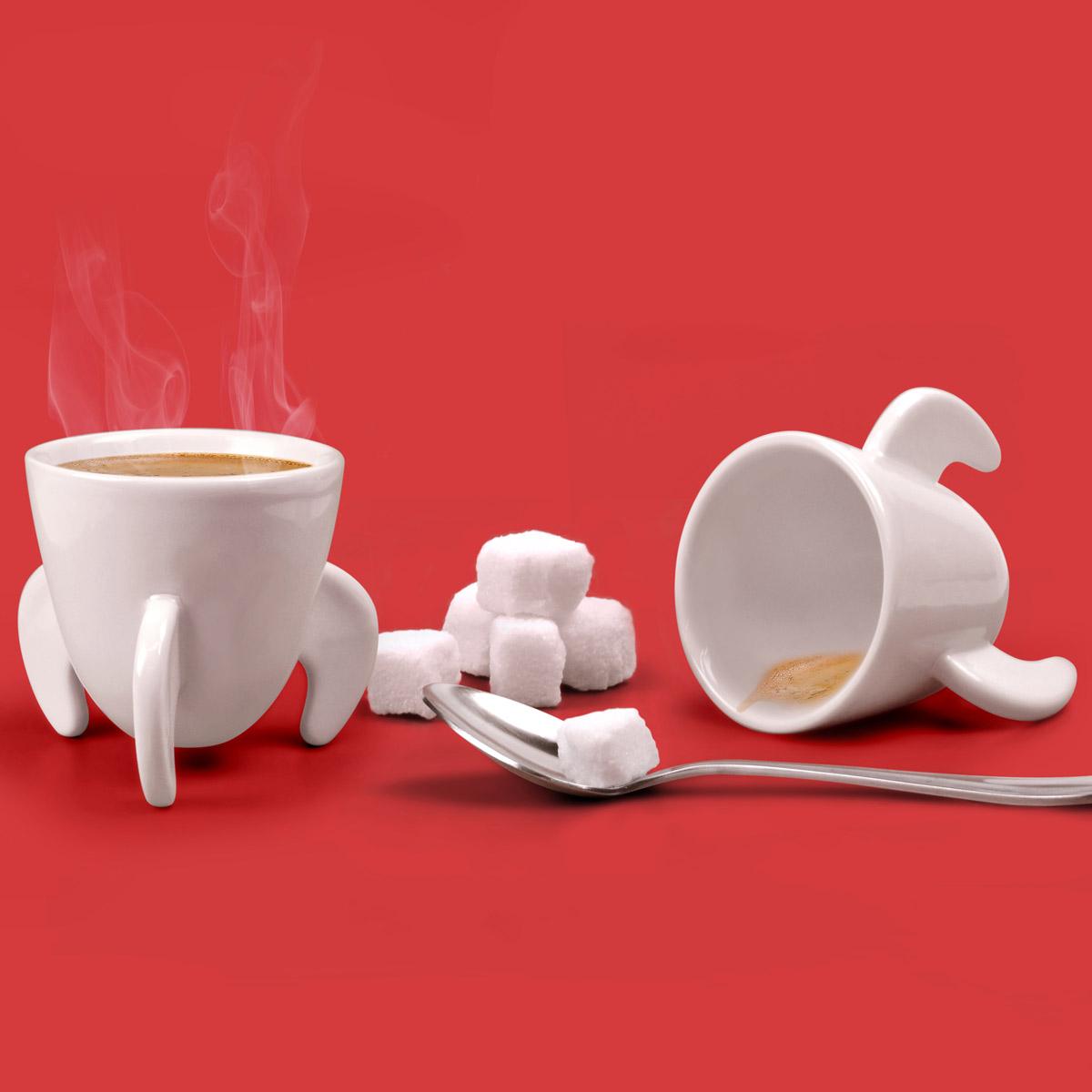 Glass espresso coffee cups uk - Blast Off Rocket Ship Espresso Cups