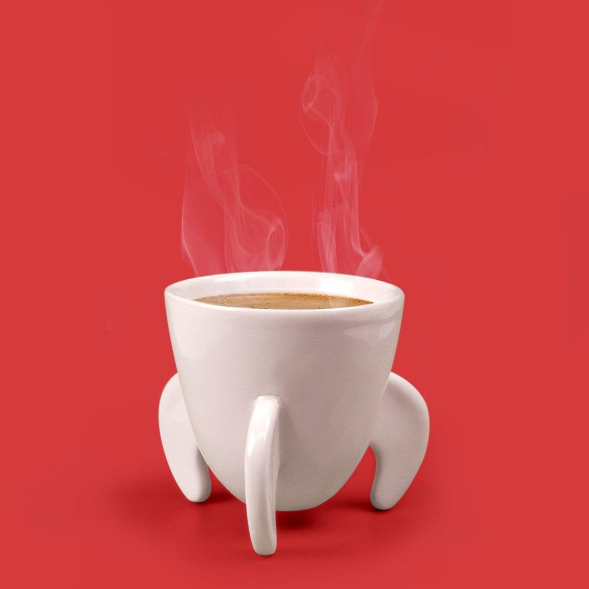Espresso Coffee Cups ~ Blast off rocket ship espresso cups the green head