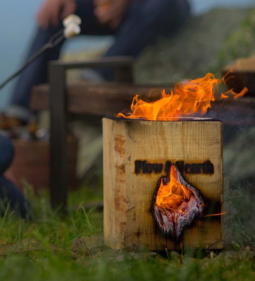 Awesome BlazingBlock   Portable Self Contained Wood Bonfire