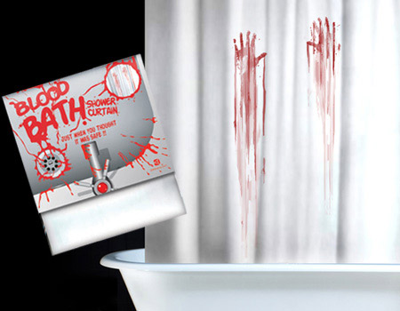 Blood Bath Shower Curtain And Mat