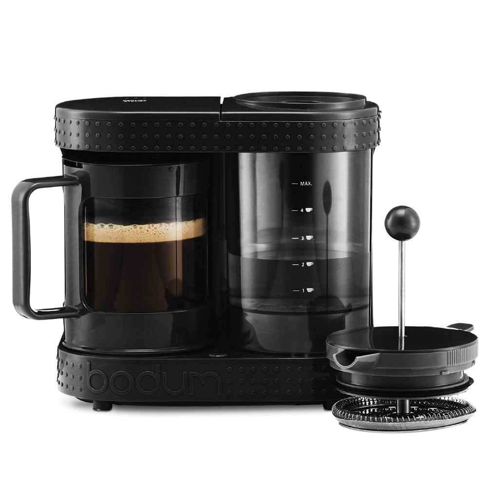 bodum bistro electric french press the green head. Black Bedroom Furniture Sets. Home Design Ideas