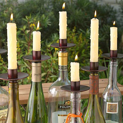 Craft Ideas Glass Bottles on Bottelabra Empty Wine Bottle Candelabra 1 Jpg