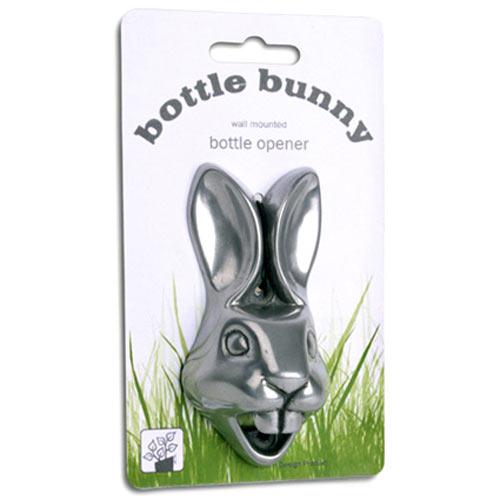 bottle bunny wall mounted bottle opener the green head. Black Bedroom Furniture Sets. Home Design Ideas