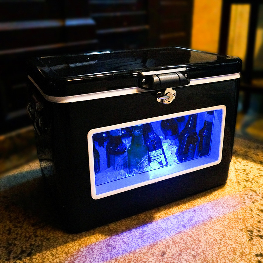 BREKX Illuminated LED Party Cooler With Window The