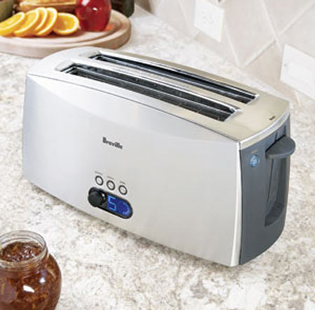 Breville Ikon Lift and Look Toaster 4 Slice The Green Head
