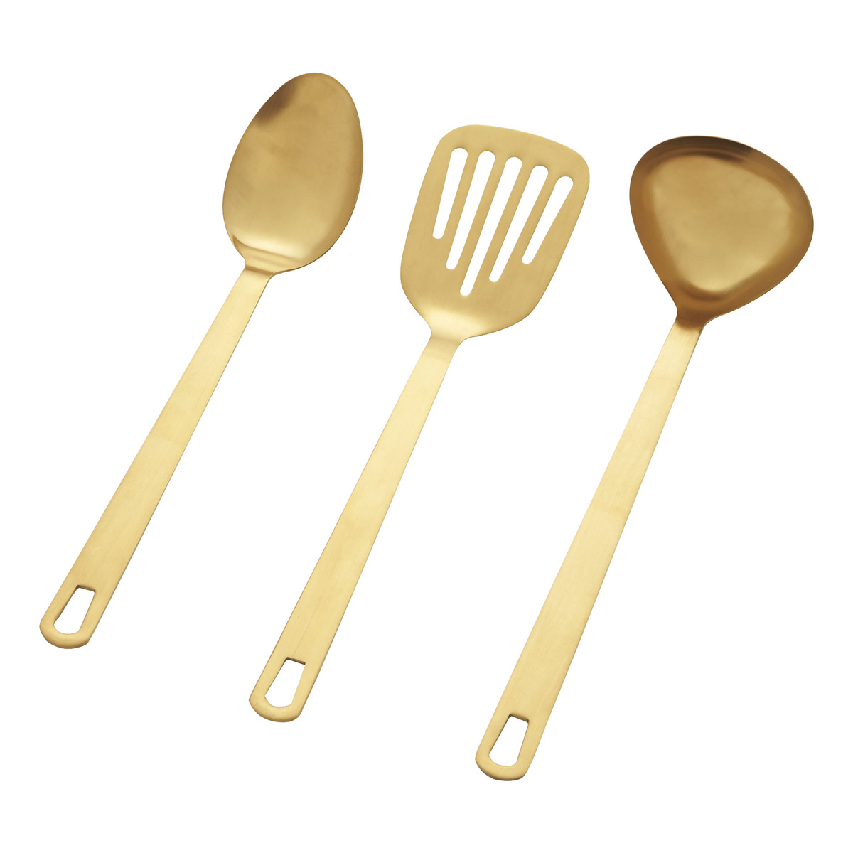 Brushed Gold Kitchen Utensils  The Green Head