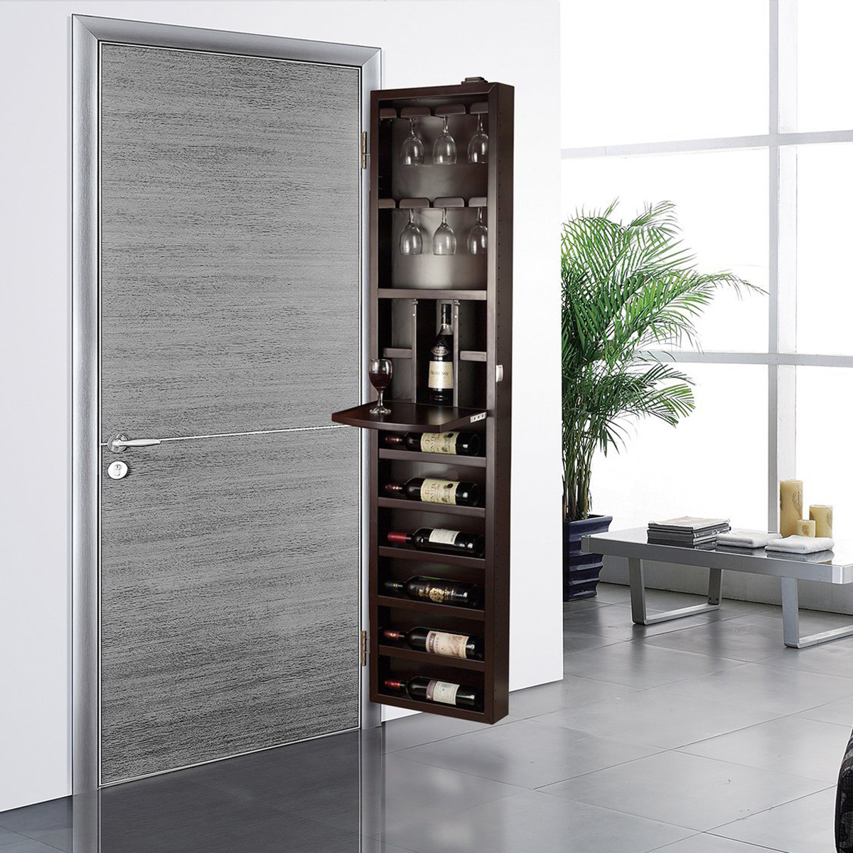 Cabidor Behind The Door Wine Storage Cabinet The Green